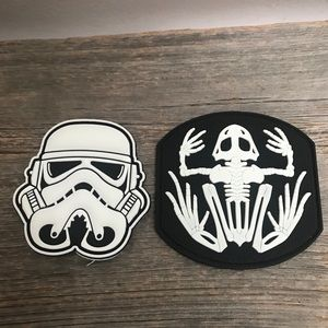 Large PVC glow in the dark Velcro patches